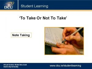 Student Learning To Take Or Not To Take