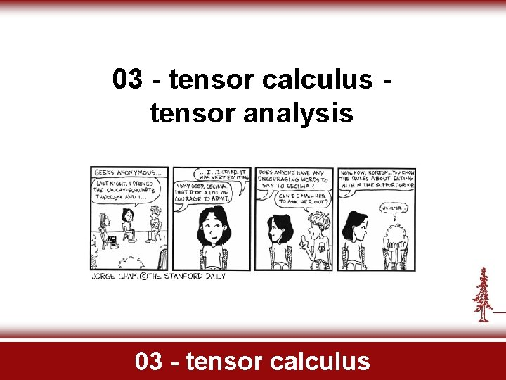 03 tensor calculus tensor analysis 03 tensor calculus