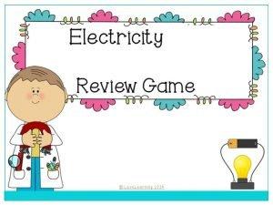 Electricity Review Circuits 1 Circuits 2 Conductors Insulators