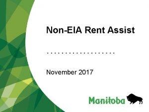 NonEIA Rent Assist November 2017 NonEIA Rent Assist