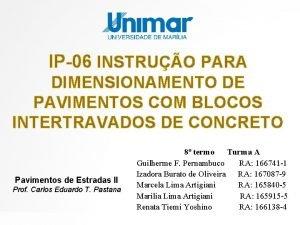 IP06 INSTRUO PARA DIMENSIONAMENTO DE PAVIMENTOS COM BLOCOS