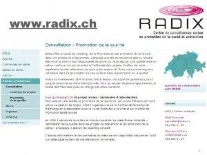 www radix ch 1 www quintessenz ch Dun
