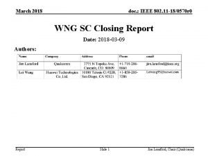 March 2018 doc IEEE 802 11 180570 r
