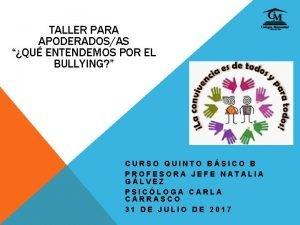 TALLER PARA APODERADOSAS QU ENTENDEMOS POR EL BULLYING