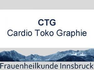 CTG Cardio Toko Graphie Einleitung berwachung der 1