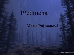 Pedtucha Marie Pujmanov Marie Pujmanov 8 ervna 1893