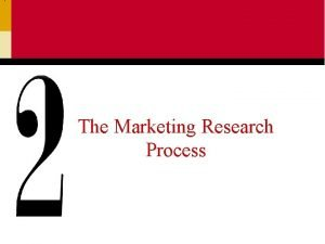 The Marketing Research Process The Marketing Research Process