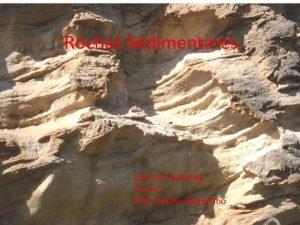 Rochas Sedimentares Cincias Naturais 7 ano Prof Teresa
