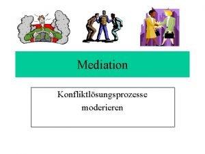 Mediation Konfliktlsungsprozesse moderieren Grundregeln der Mediation Offenheit Vertraulichkeit