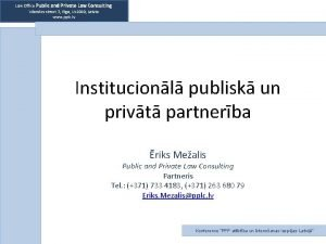Law Office Public and Private Law Consulting Vilandes