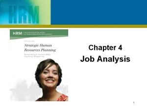 Chapter 4 Job Analysis 1 Learning Outcomes After