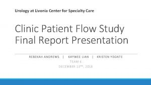 Urology at Livonia Center for Specialty Care Clinic