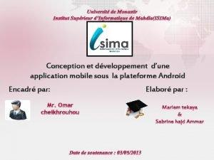 Conception et dveloppement dune application mobile sous la