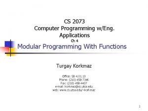 CS 2073 Computer Programming wEng Applications Ch 4