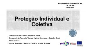 AGRUPAMENTO DE ESCOLAS DA TROFA 20162017 Curso Profissional