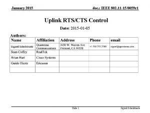 January 2015 doc IEEE 802 11 150059 r