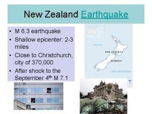 New Zealand Earthquake M 6 3 earthquake Shallow