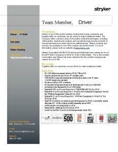 Team Member Driver Position title Driver 1 st