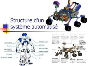 Structure dun systme automatis Structure dun systme automatis