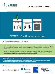 Collection Gestion du temps lecture mathmatique TEMPS 1