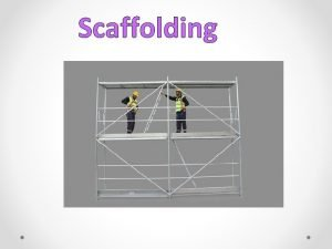 Scaffolding Scaffolding For Student Achievement The Goal of