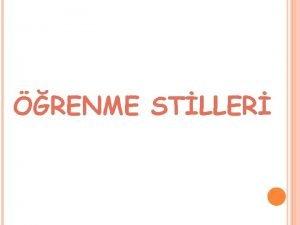 RENME STLLER RENME STILLERI HER BIR RENCININ YENI