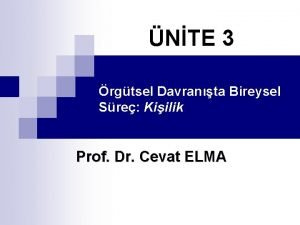 NTE 3 rgtsel Davranta Bireysel Sre Kiilik Prof