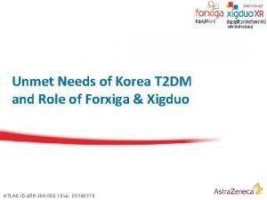 Unmet Needs of Korea T 2 DM and