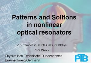 Patterns and Solitons in nonlinear optical resonators V