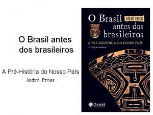 O Brasil antes dos brasileiros A PrHistria do