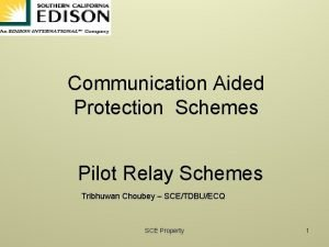 Communication Aided Protection Schemes Pilot Relay Schemes Tribhuwan