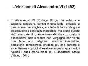 Lelezione di Alessandro VI 1492 In Alessandro VI