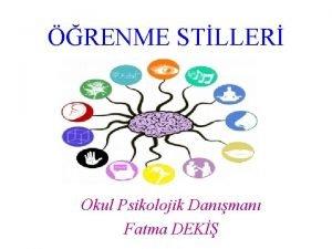 RENME STLLER Okul Psikolojik Danman Fatma DEK Gelecein