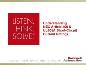 Understanding NEC Article 409 UL 508 A ShortCircuit