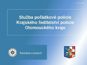 30 11 2020 Sluba podkov policie Krajskho editelstv
