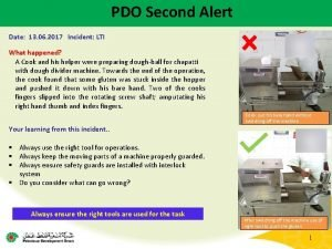 PDO Second Alert Date 13 06 2017 Incident