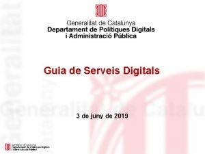 Guia de Serveis Digitals 3 de juny de