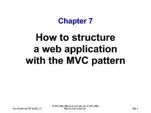 Java Servlets and JSP 2 nd Ed C