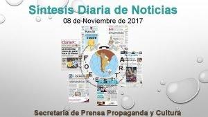 Sntesis Diaria de Noticias 08 de Noviembre de