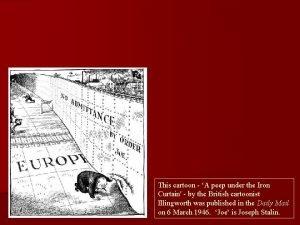 This cartoon A peep under the Iron Curtain
