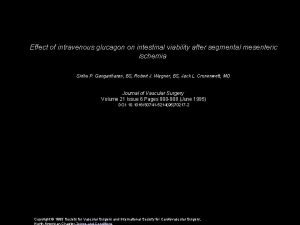 Effect of intravenous glucagon on intestinal viability after