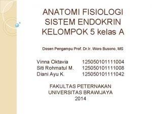 ANATOMI FISIOLOGI SISTEM ENDOKRIN KELOMPOK 5 kelas A