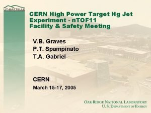CERN High Power Target Hg Jet Experiment n