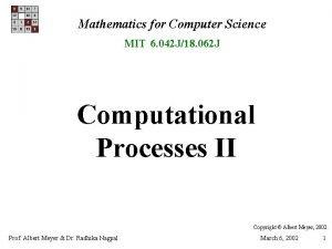 Mathematics for Computer Science MIT 6 042 J18
