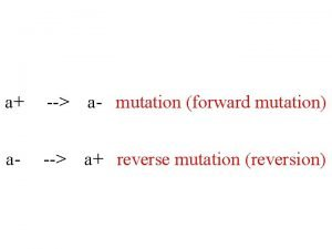 a a mutation forward mutation a a reverse