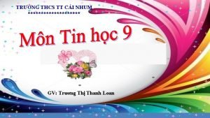 TRNG THCS TT CI NHUM GV Trng Th