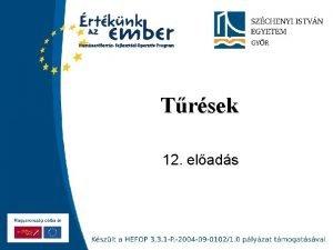 Trsek 12 elads Szchenyi Istvn Egyetem A ksz