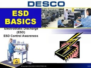 ESD BASICS Electro Static Discharge ESD ESD Control