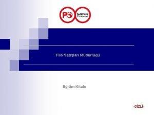 Filo Satlar Mdrl Eitim Kitab GZL Auto Matic