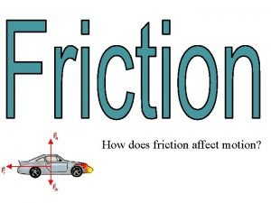 How does friction affect motion What Causes Friction